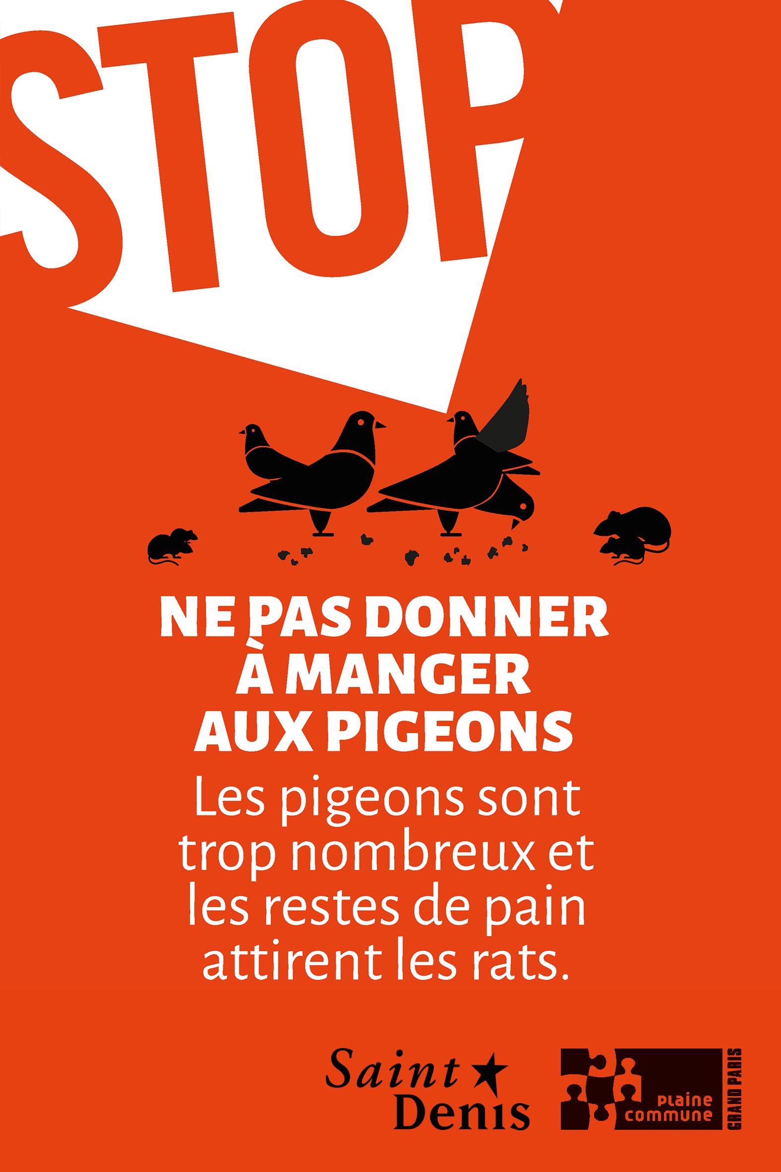 Les bons gestes pour une ville propre - nourir les pigeons c'est nourir les rats !